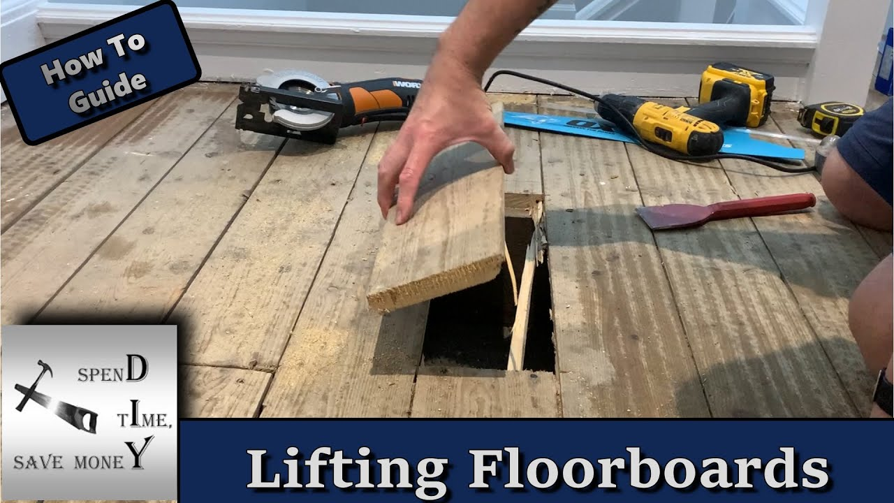 How to cut, lift and replace floorboards. Quick and easily