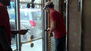 How To Install Security Film On Tempered Glass: Commercial Door Demo