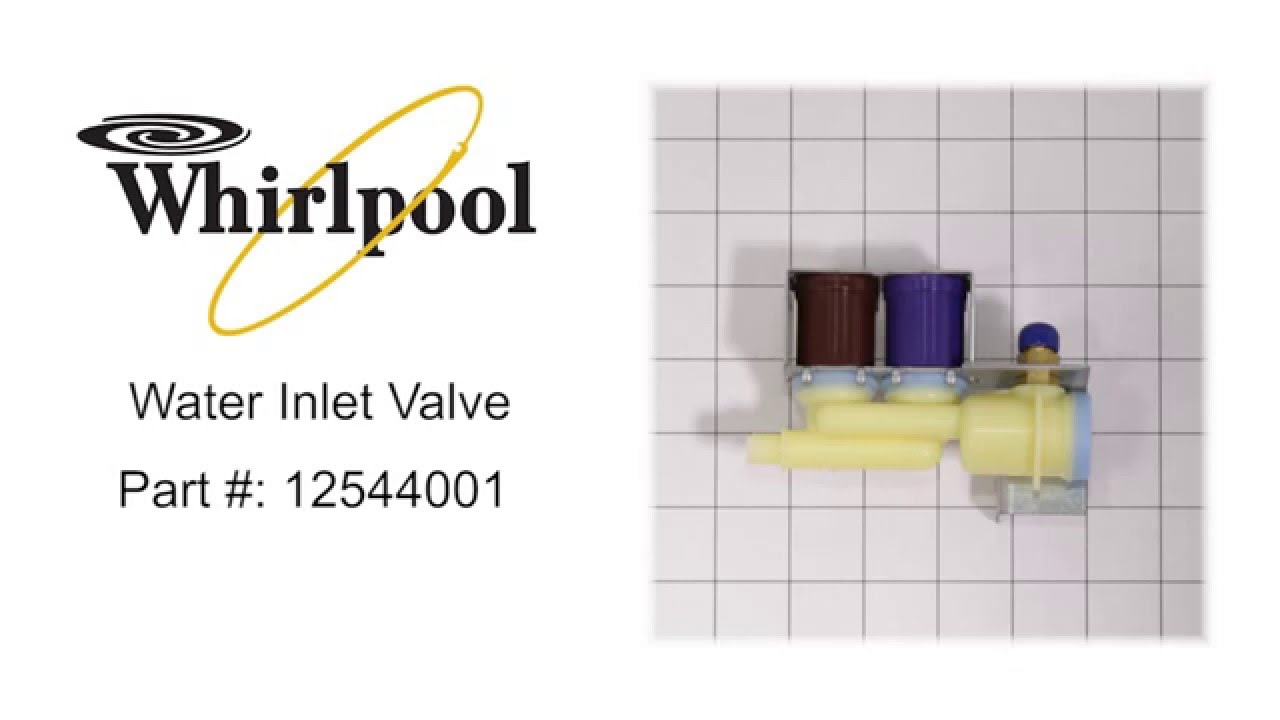 Whirlpool 12544001 Inlet Valve