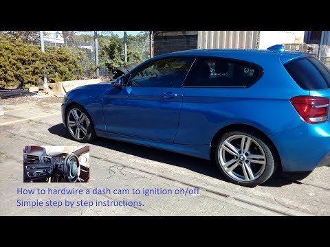BMW 1 Series 2011 Onwards How To Wire In Dash Cam To Fuse Box,simple Guide.