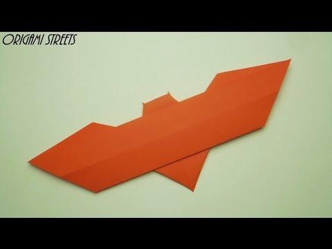 Cara Membuat Batarang Dari Kertas, Origami Batarang