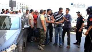 Hespress.com: Des chômeurs furieux à Rabat