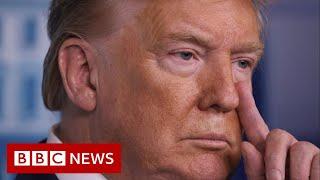 Coronavirus: Trump tells Americans to avoid public spaces - BBC News