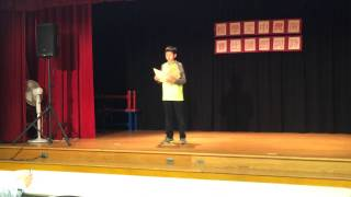 Kevin Liu Chinese School Poetry Competition 2/21/2015
