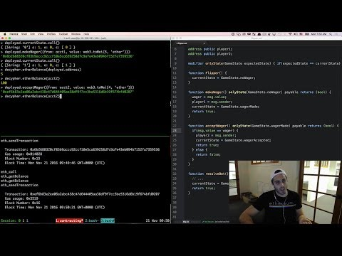 Ultimate Intro to Ethereum Ðapp Development [Part 10] - Smart Contracts - Coin Flipper (2/2)
