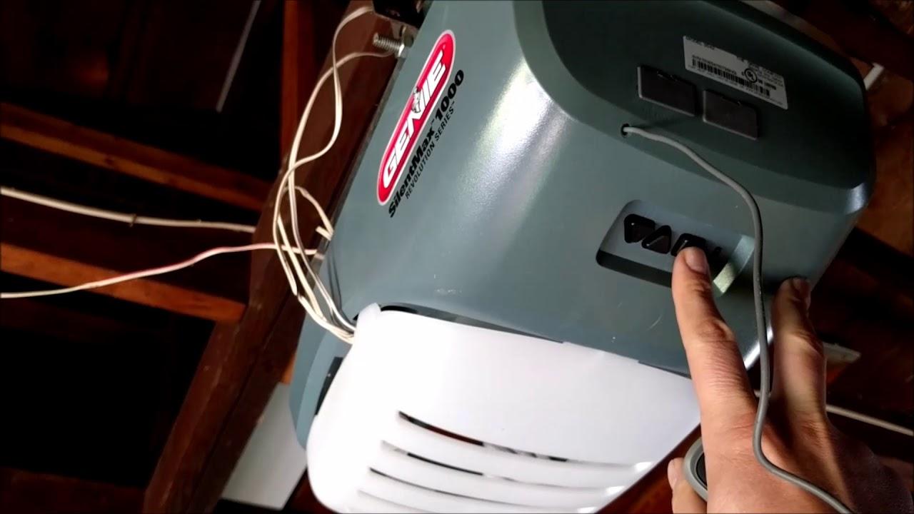 Programming A Genie Garage Door Opener Remote Youtube