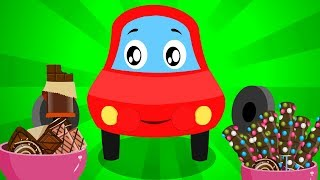 Chocolate Song | Little Red Car Rhymes | Cartoon Songs For Children | Kids Channel