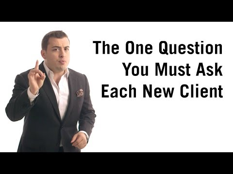 The one question you must ask every new customer