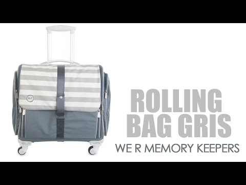 360 Crafters's Rolling Bag Gris y Blanco - We R Memory Keepers