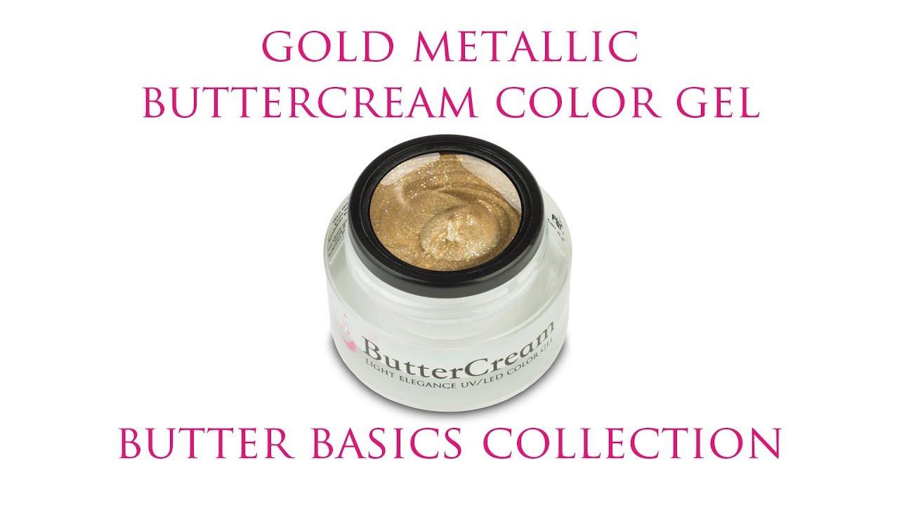 Gold Metallic ButterCream Color Gel :: Butter Basics Collection