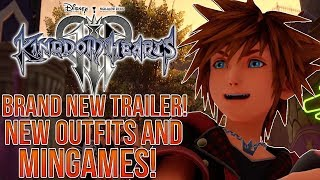 BRAND NEW KINGDOM HEARTS 3 TRAILER! New Outfits, Twilight Town and Minigames!