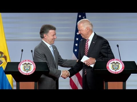 Vice President Biden and President Santos Deliver Joint Statements to the Press