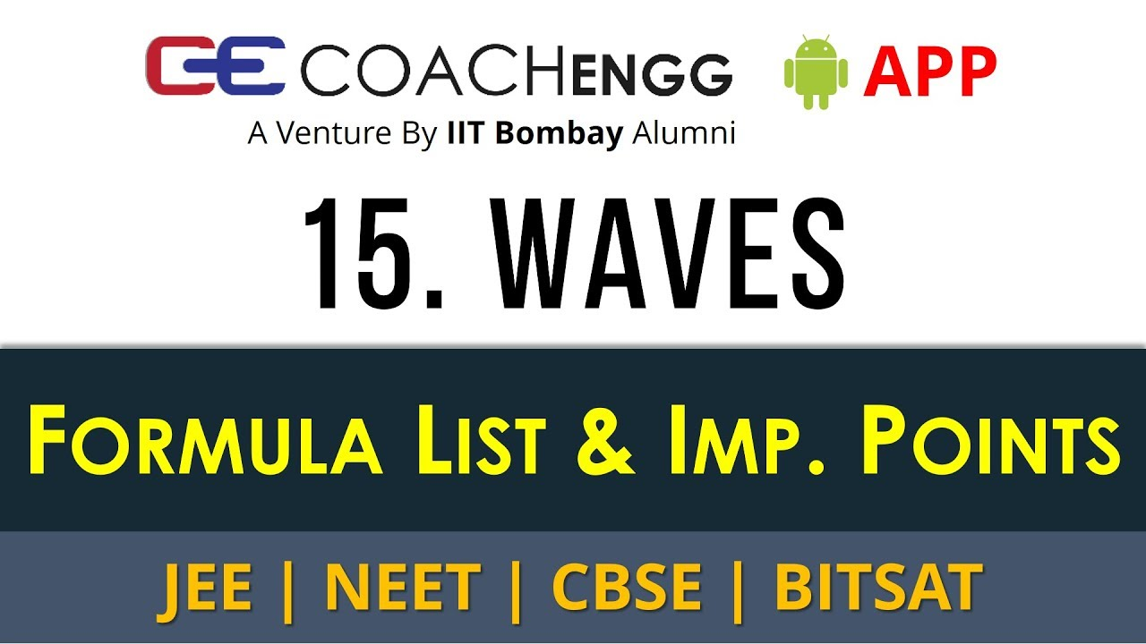 Waves – Formula List and Important Points for Revision - CBSE | JEE | NEET  | COACHENGG APP