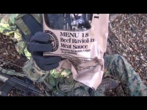 MRE Field Review: Menu 18 Beef Ravioli