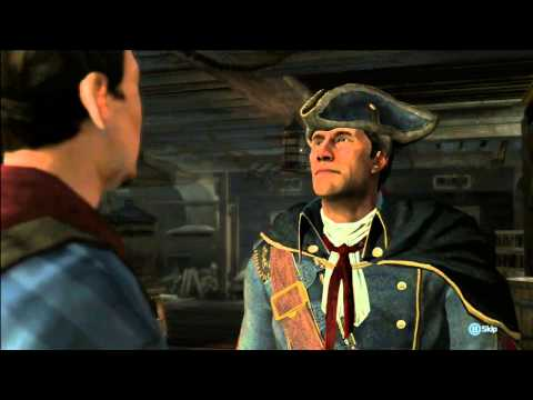 Assassins Creed III (3) Lets Play!! Episode 2 - Boat Wrestling! Hello Boston!!
