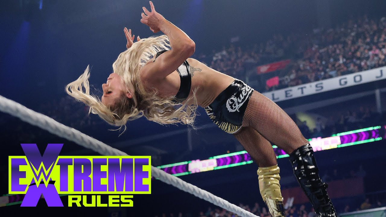 Download Charlotte Flair launches acrobatic assault on Alexa Bliss: WWE Extreme Rules 2021