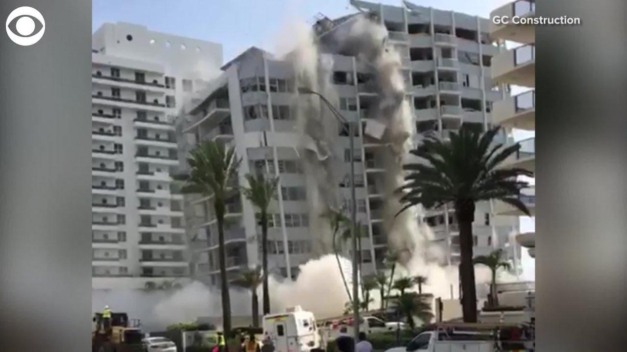 Collapse Of Florida Condo Boom >> High Rise Condo Complex Suddenly Collapses In Miami Beach Youtube