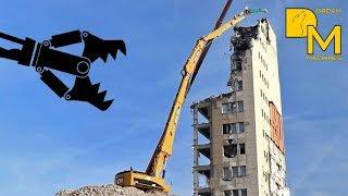 POWERFUL CATERPILLAR 385C HIGH REACH DEMOLITION EXCAVATOR RIPPING DOWN BUILDING