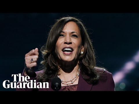 Kamala Harris delivers speech to counter Trump convention appearance – watch live