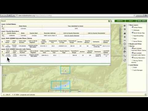 Land Matters Active Mining Claims Maps and the LR2000