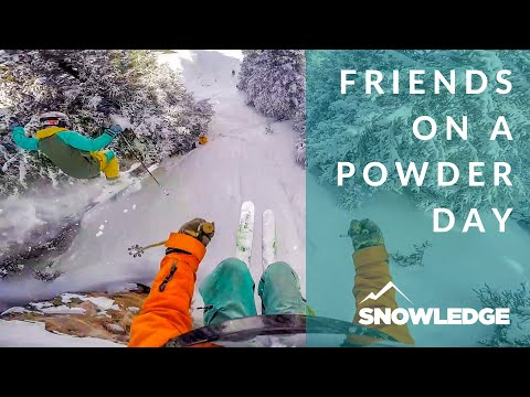 Finally, Friends On A Powder Day | Snowledge Ski & Snowboard Tracking App V2.0
