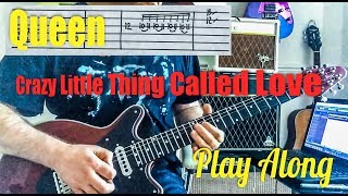 Queen - Crazy Little Thing Called Love - Guitar Play Along (Guitar Tab)