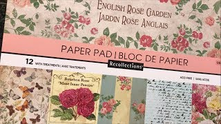 English Rose Garden Paper Pad / Michaels NEW hot buys| I'm A Cool Mom