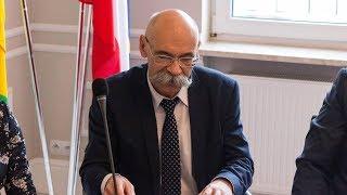 Podziękowanie starosty ostrowskiego Zbigniewa Chrupka