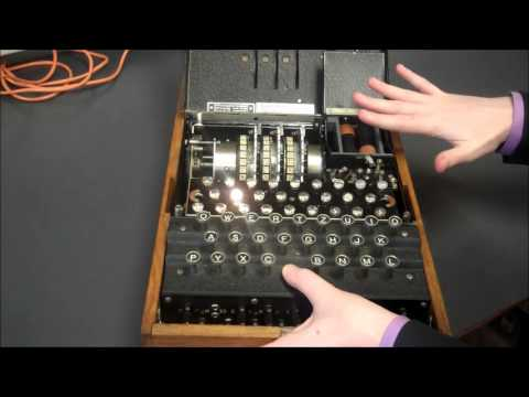 Demonstration of a surviving Enigma machine