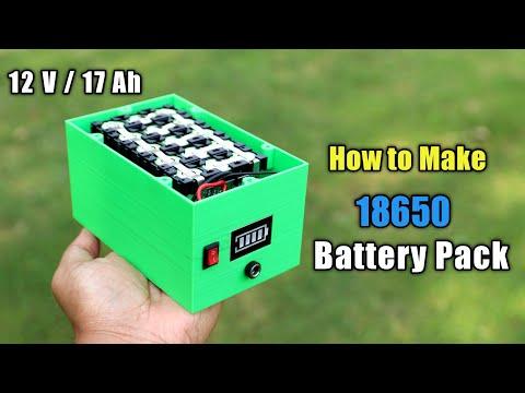 DIY 18650 Battery Pack for Portable Solar Generator