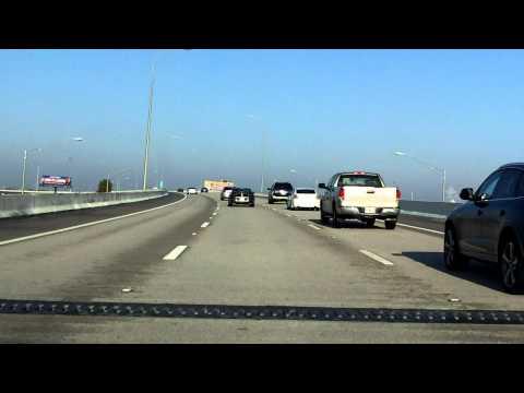 Lee Roy Selmon Expressway (FL 618 Exits 15 to 9) westbound (Express Lanes)