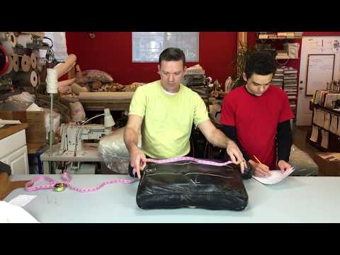 How to Quickly Measure a T Cushion as well as Replace a Foam Insert With Feathers!