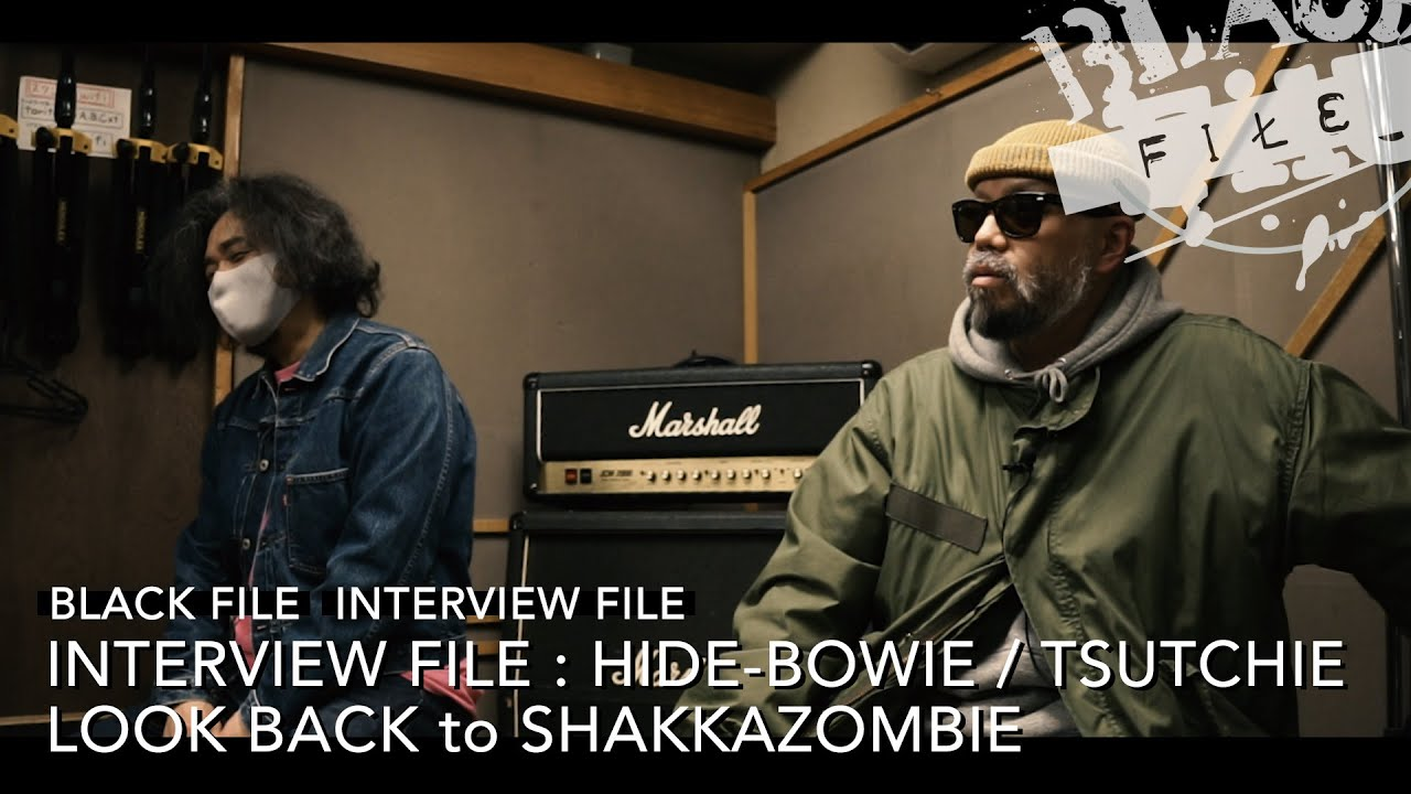 INTERVIEW FILE : HIDE-BOWIE / TSUTCHIE – LOOK BACK to SHAKKAZOMBIE