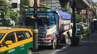 【日本車人気】タイ・バンコク・タイ版デコトラ(日野自動車)decorated truck