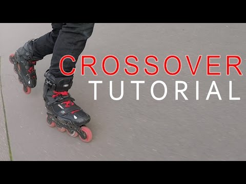HOW TO do CROSSOVER TURNS - INLINE SKATING TUTORIAL 4
