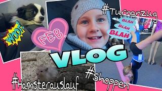 VLOG Februar #Hamsterauslauf #Turnanzug #Shoppen coole Mädchen