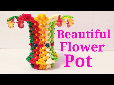 How to make || flower pot || using a waste || Macrame