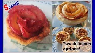 Apple Rose Tart - Diy Two Easy Ways To Make Baked Apple Rose Tarts - Æble Rose TÆrter