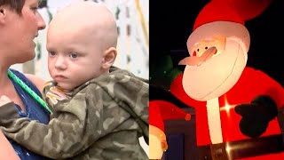 Baixar Vandals Pop Inflatable Santa in Terminally Ill Boy's Early Christmas Decorations