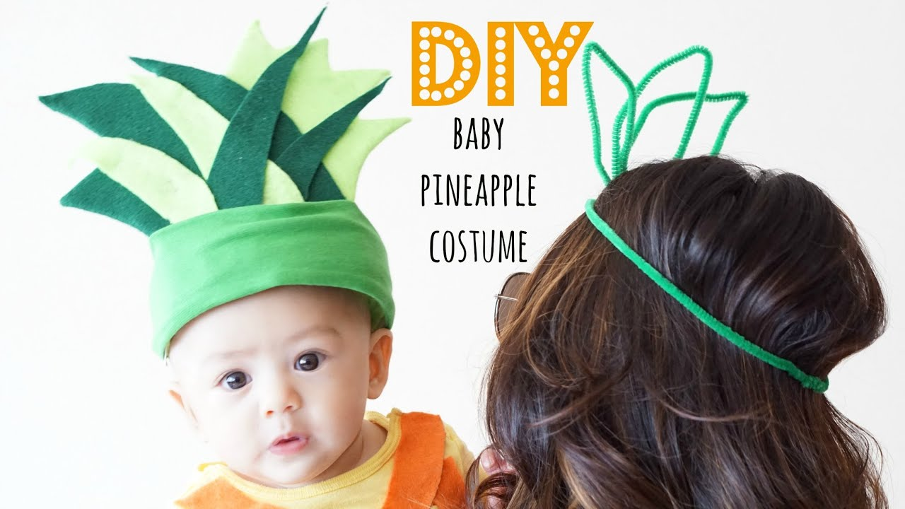 Diy baby pineapple costume youtube diy baby pineapple costume solutioingenieria