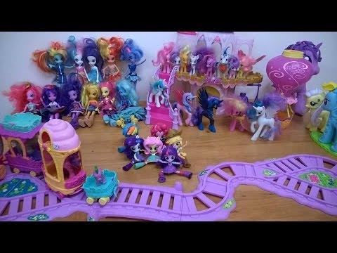 Wielka kolekcja my little pony, mini equestria girls, pociąg przyjaźni, balon, po polsku