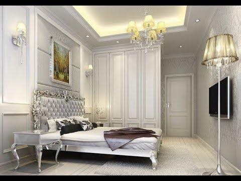 غرف نوم عصرية باللون الفضي
