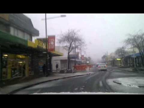 Upper Hutt City Centre Snow 160811.avi