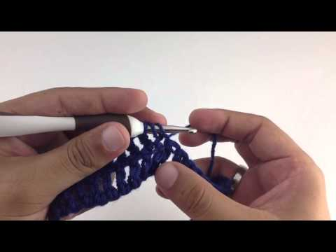 How To Crochet The Triple Crochet Two Together Decrease (tr2tog) (left Handed)