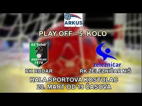 ARKUS liga Playoff 5. kolo / RK Rudar - RK Železničar 1949