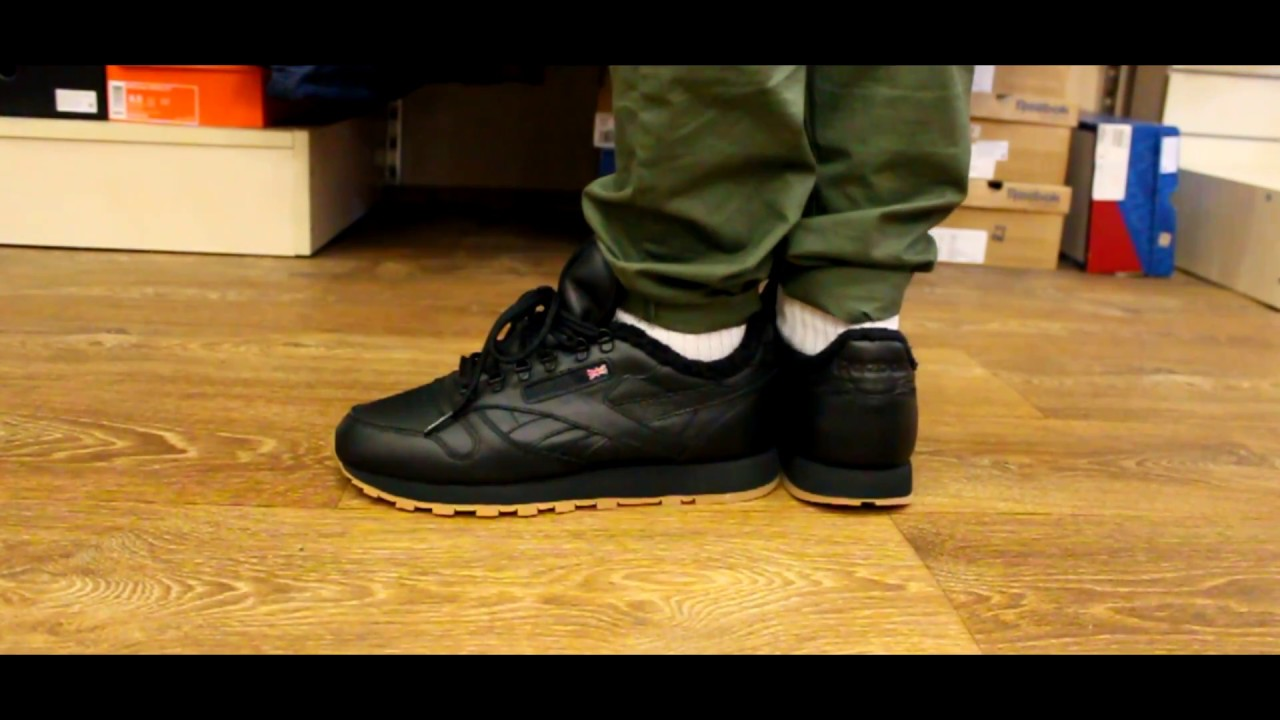 346ae13f Review | Reebok Classic Leather Sherpa TS Black\Gum - YouTube