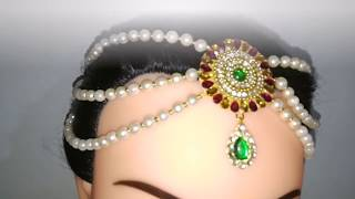 Bridal accessories making with pearl beads