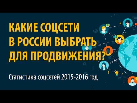 Какие соцсети в России выбрать для продвижения? Статистика соцсетей 2016 - Семинар 1 часть 1