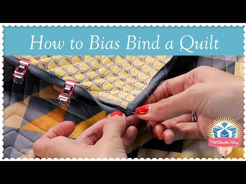 How to Bias Bind a Quilt! Kimberly Jolly's Easy Quilting Tutorial for Perfect Bias Binding thumbnail