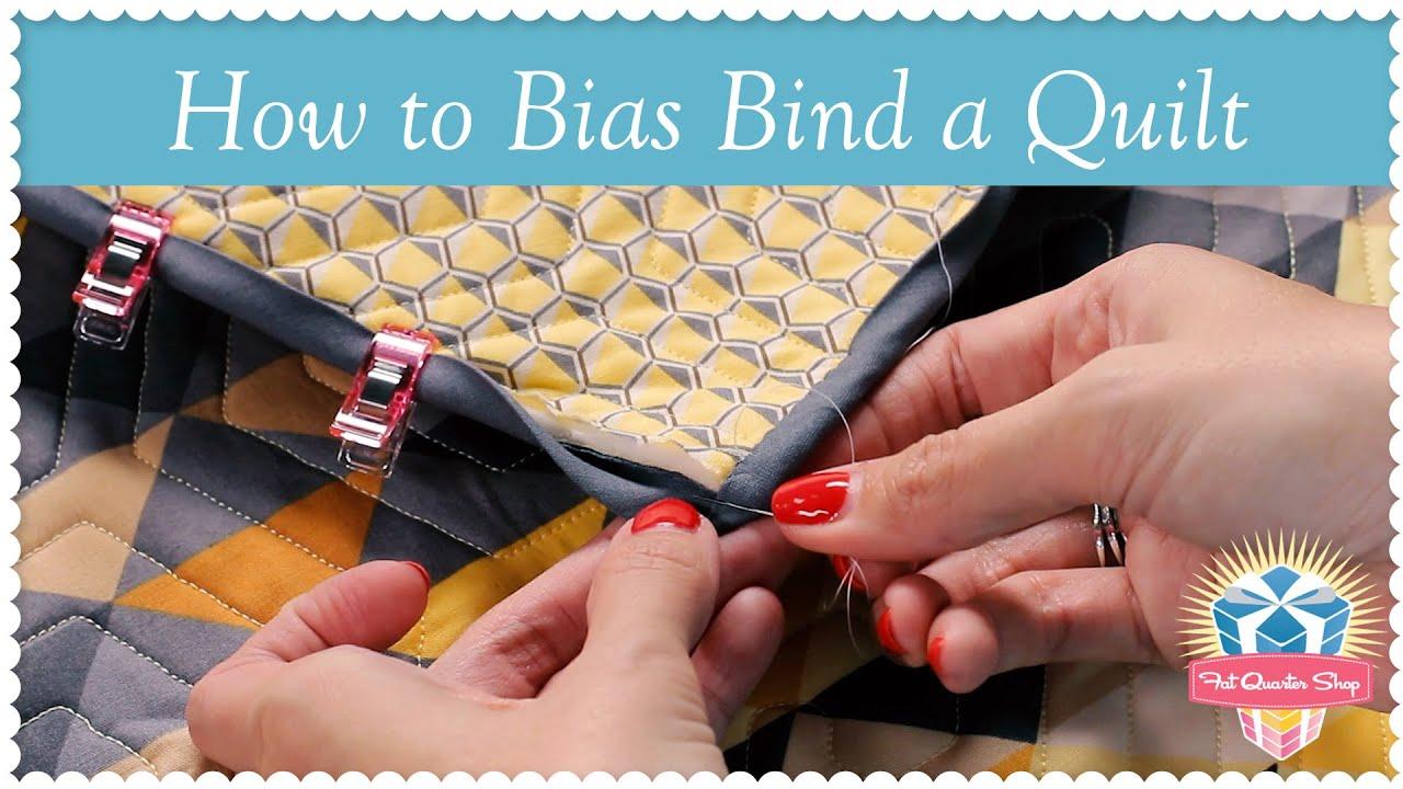 How to Bias Bind a Quilt! Kimberly Jolly's Easy Quilting Tutorial ... : how to bind a quilt video - Adamdwight.com